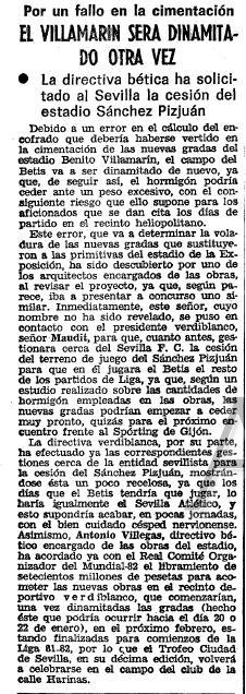 1980 El Villamarín será dinamitado otra vez