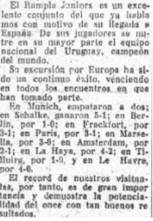 Betis-Rampla Juniors Amistoso 1929 fama (NMP) La Unión 22-05-1929