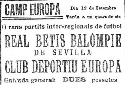 Fuente: El Mundo Deportivo 12 de septiembre de 1926