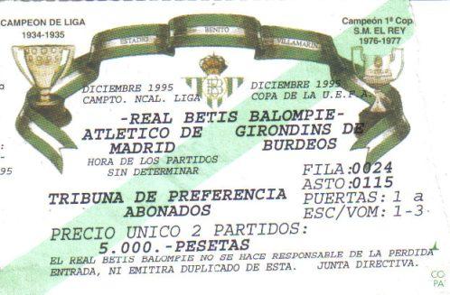 Betis-Girondins entrada (NMP)