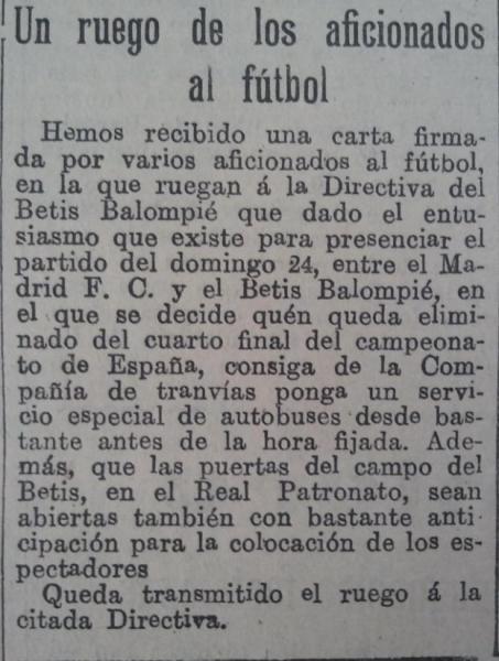 Fuente: El Liberal 24 de mayo de 1931