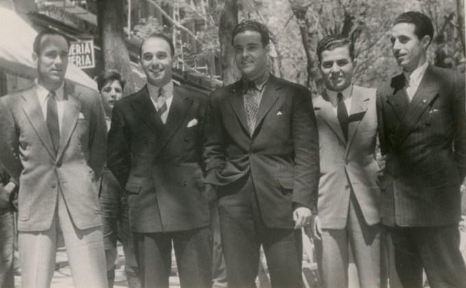 Jugadores del Betis  en Madrid 1944 (NMP) AGA