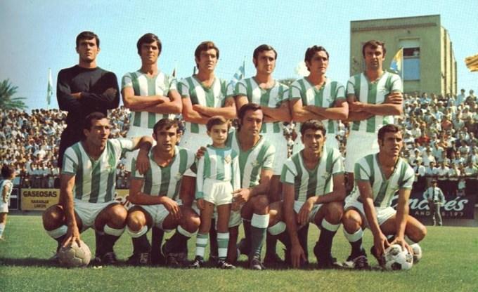 Alineación San Andrés-Betis Liga 1970