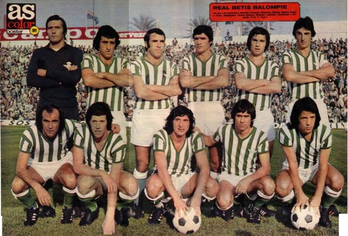 Alineación Betis-Zaragoza Liga 1976