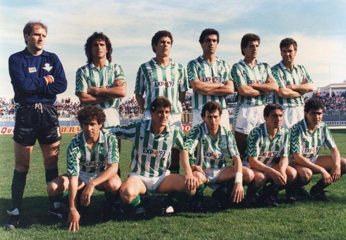 Alineación Cádiz-Betis Liga 1988