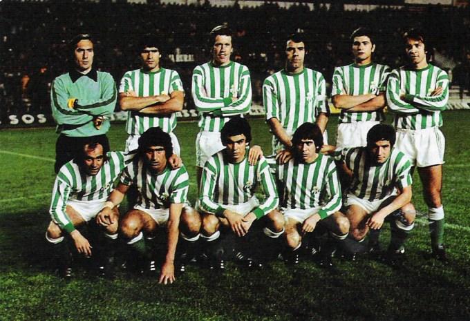 La alineación bética que se enfrentó al Dinamo de Moscú en marzo de 1978