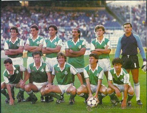 Alineación Español-Betis Liga 1985