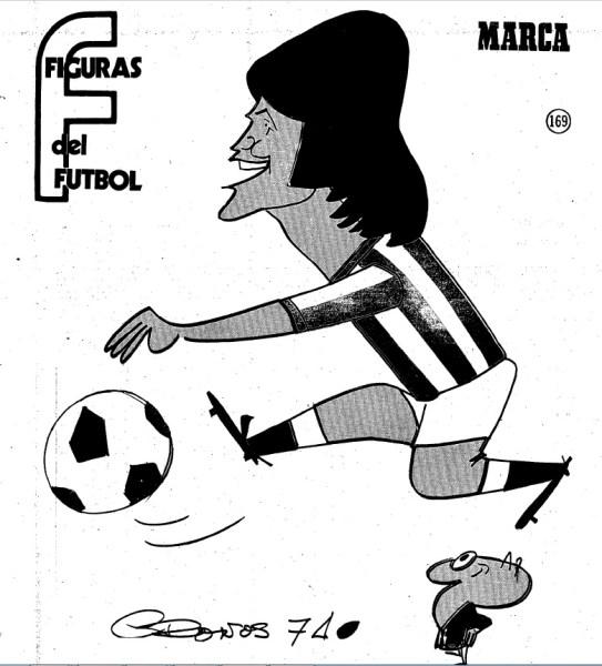 Figuras del Fútbol. Eduardo Anzarda-dibujo