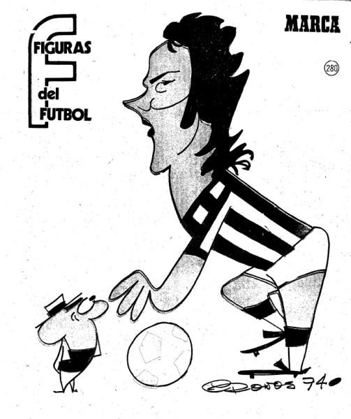 Figuras del Fútbol. Olmedo-dibujo