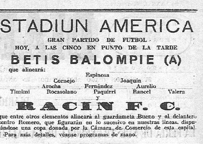 Stadium América Mayo 1935