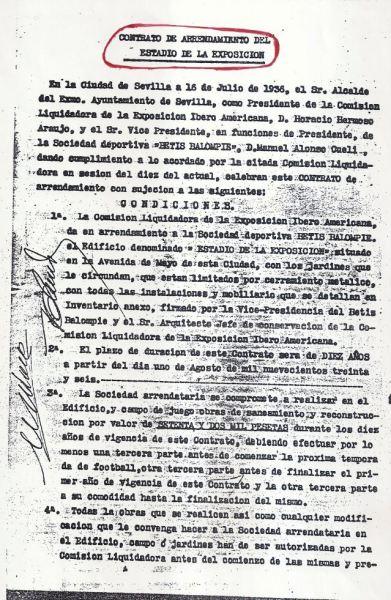 Contrato de arrendamiento Heliópolis-1 1936