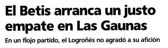 9-Septiembre 4 1994 Logroñés-Betis