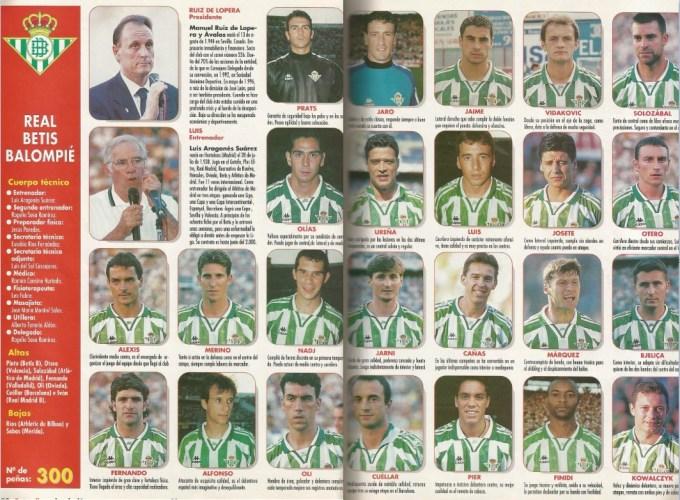 El Betis en Don Balón 1997