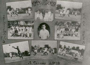Hoy hace 93 años. Sevilla 1 Betis 3 y victoria en la Copa Spencer.