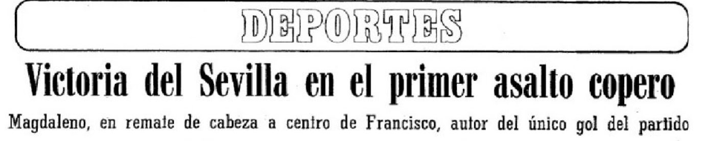 Hoy hace 35 años. Sevilla 1 Betis 0 en Copa.