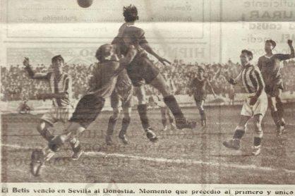 1934-Diciembre 30-Primera.-Betis Balompié-1 Donostia Cf-0.-82Aniversario.