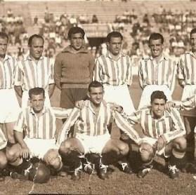 Alineación Betis-Gimnástico Alcázar Liga 1947