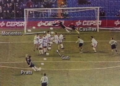 Prats marca en el Bernabéu 2000