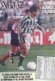 Hoy hace 23 años. Betis 3 Atlético Madrid 2.