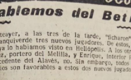 Hoy hace 67 años. Fichajes de Enrique, González y Orive.