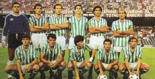 Hoy hace 34 años. Barcelona 2 Betis 0 en la final de la Copa de la Liga.