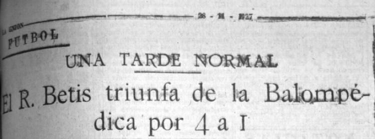 Hoy hace 92 años. Betis 4 Balompédica Linense 1.