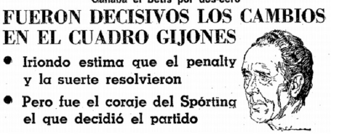 Hoy hace 42 años. Sporting 4 Betis 3.