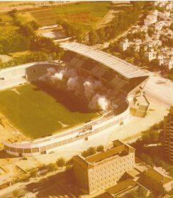 Voladura de la tribuna de Preferencia 1980