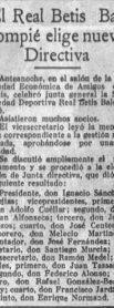 Hoy hace 92 años. Ignacio Sánchez Mejías elegido presidente.