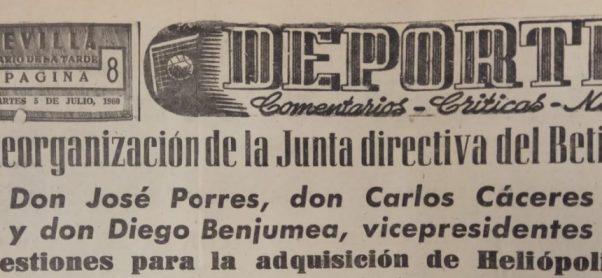 Hoy hace 60 años. Gestiones para adquirir el estadio de Heliópolis.