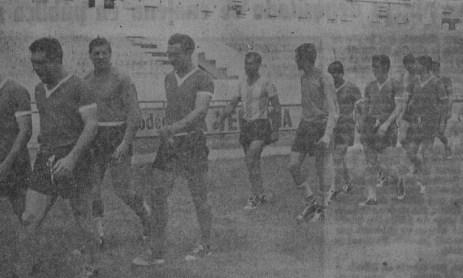 Argentina entrena en el Villamarín 1961
