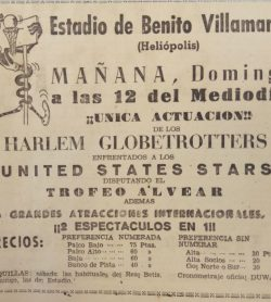 Los Harlem Globertrotters en el Villamarín 1960
