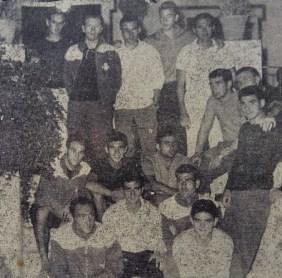 Concentración del Betis en Oromana 1964