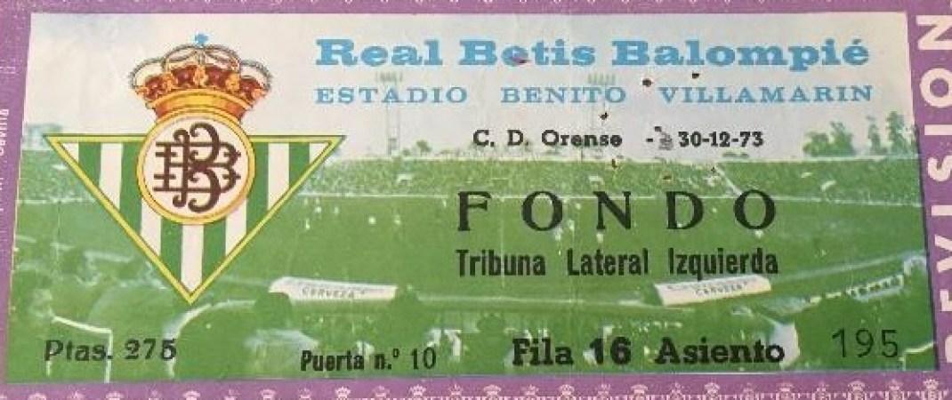 Hoy hace 47 años. Betis 3 Orense 0.