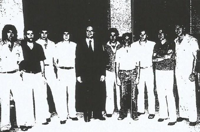 Hoy hace 42 años. Recepción en el Ayuntamiento por el ascenso.