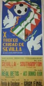 Cartel Trofeo Ciudad de Sevilla 1981