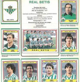 Album de cromos temporada 1983-84