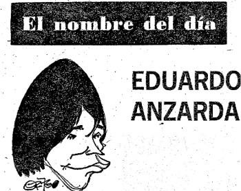 El nombre del día Eduardo Anzarda. 1976