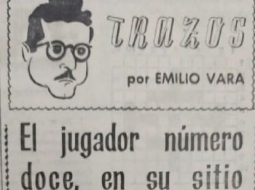 El jugador número doce, en su sitio, de Emilio Vara