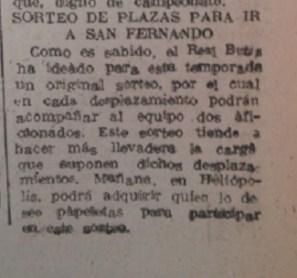 Sorteo de plazas para San Fernando 1950