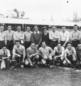 Joaquín Urquiaga con la selección 1936