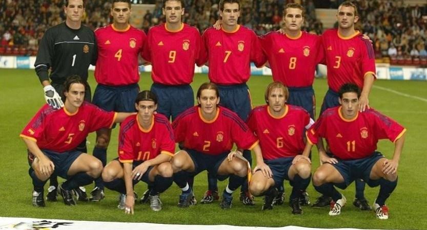 Béticos en la selección. Juanito y Capi. 2002