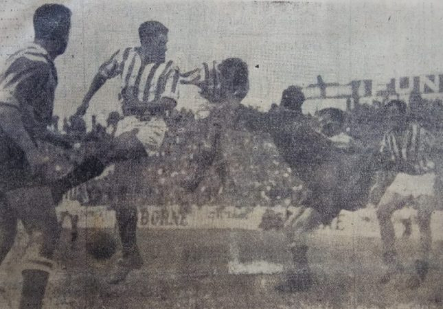 Hoy hace 65 años. Betis 3 España Industrial 1.