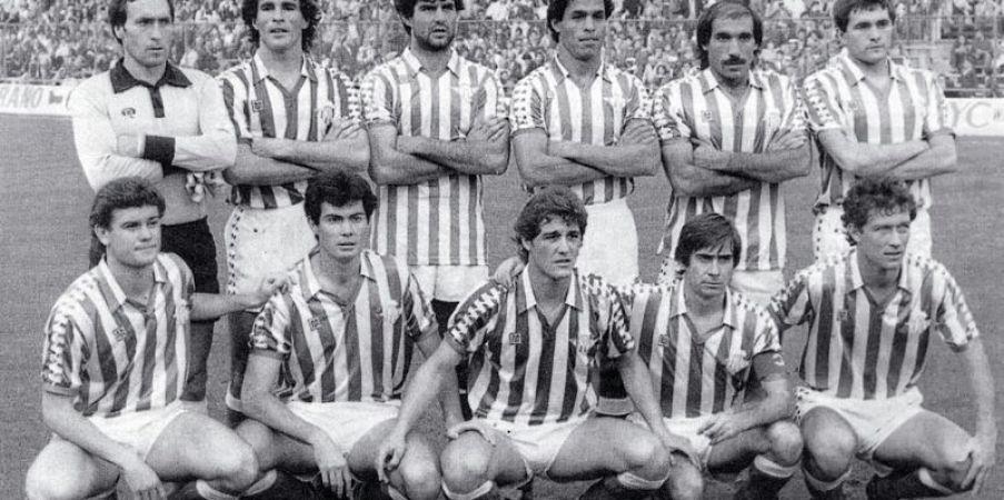 Alineación Atlético de Madrid-Betis Liga 1983.