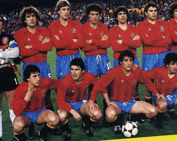 Béticos en la selección. Valencia 1984.