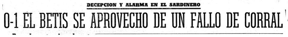 Hoy hace 50 años. Racing 0 Betis 1.