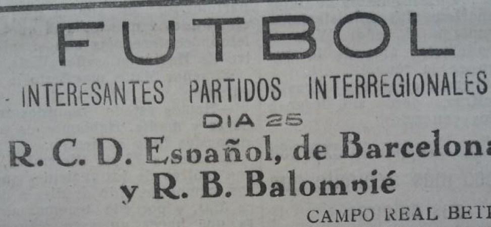 Hoy hace 90 años. Betis 5 Espanyol 3.