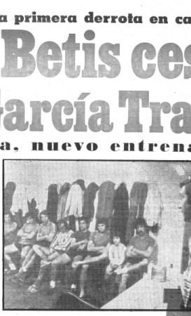 Hoy hace 42 años. Cese de José Luis García Traid.