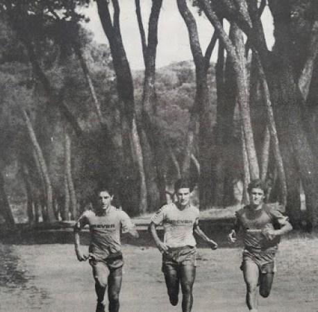 Entrenamientos en Oromana 1985.