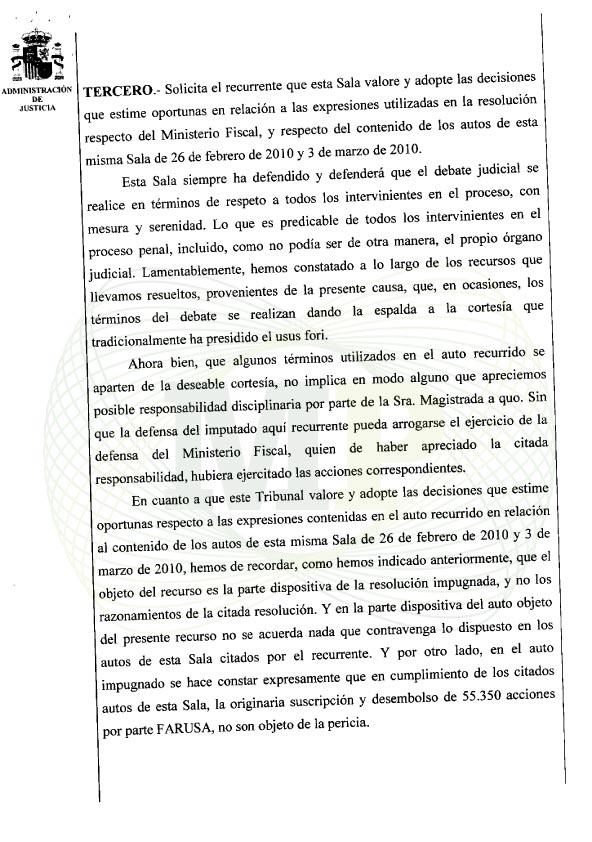 Página 4 del Auto de la Audiencia Provincia